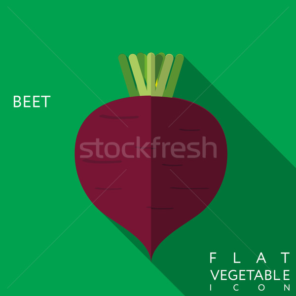 beet flat icon illustration with long shadow Stock photo © LittleCuckoo