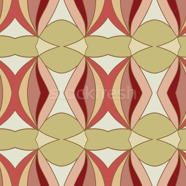 Abstract seamless ornament pattern.kaleidoscope effect. Stock photo © LittleCuckoo