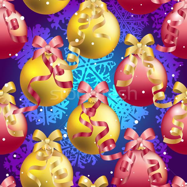パターン クリスマス ボール ぼけ味 ストックフォト © LittleCuckoo