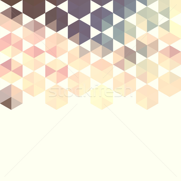 Abstract background with green hexagons Stock photo © LittleCuckoo