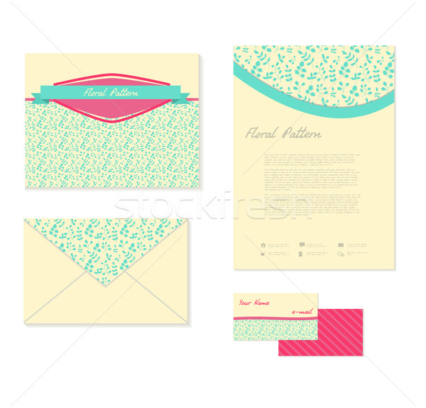 Corporate style with multicolor leaves Stock photo © LittleCuckoo