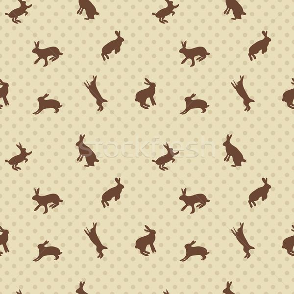 заяц кролик бесшовный текстуры текстильной дизайна Сток-фото © LittleCuckoo