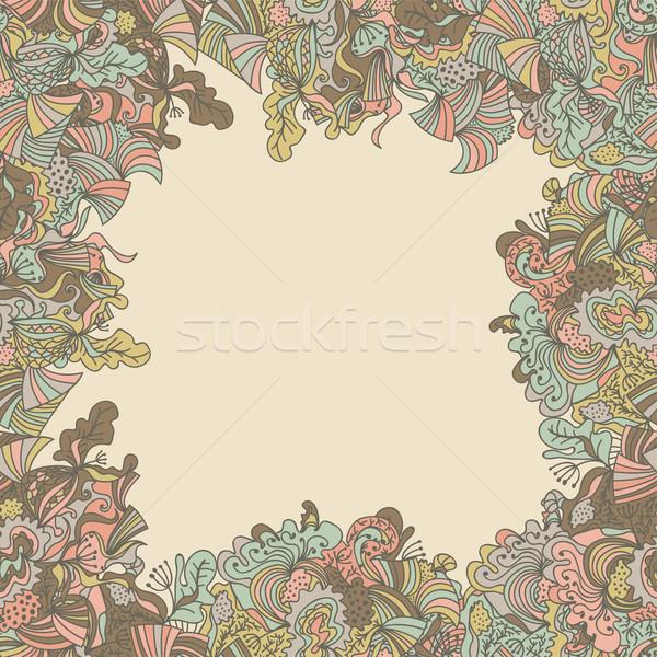 抽象的な シームレス 国境 パターン 表面 テクスチャ ストックフォト © LittleCuckoo