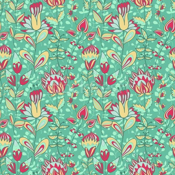 Sem costura textura flores floral padrão Foto stock © LittleCuckoo