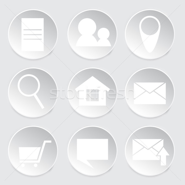 Ikon daire biçim web tasarım iş alışveriş Stok fotoğraf © LittleCuckoo