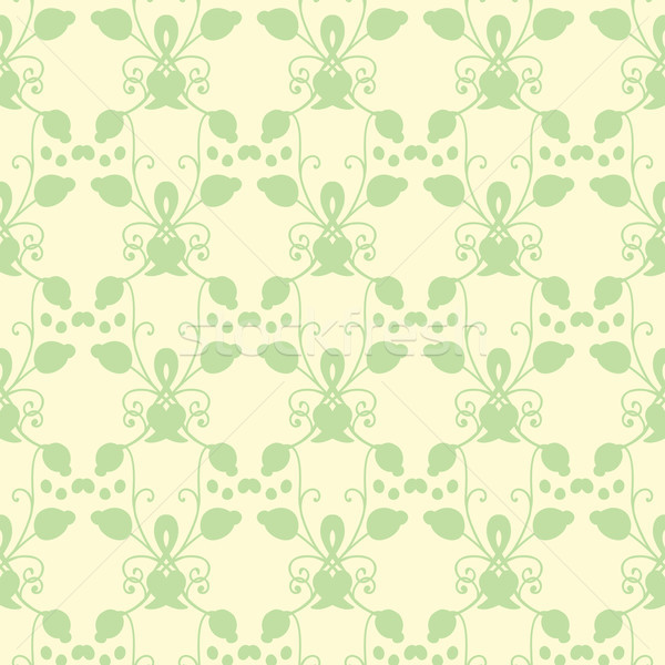 Neutral floral ornament. cool green Stock photo © LittleCuckoo