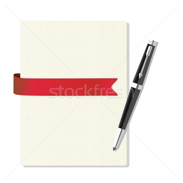 Schrift kooi pen kantoor papier Stockfoto © LittleCuckoo