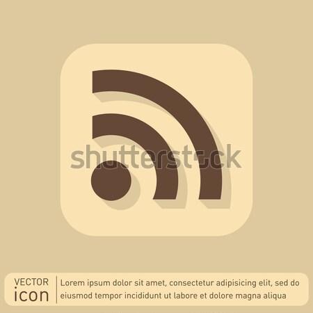 Rss symbol kółko niebieski ikona cień Zdjęcia stock © LittleCuckoo