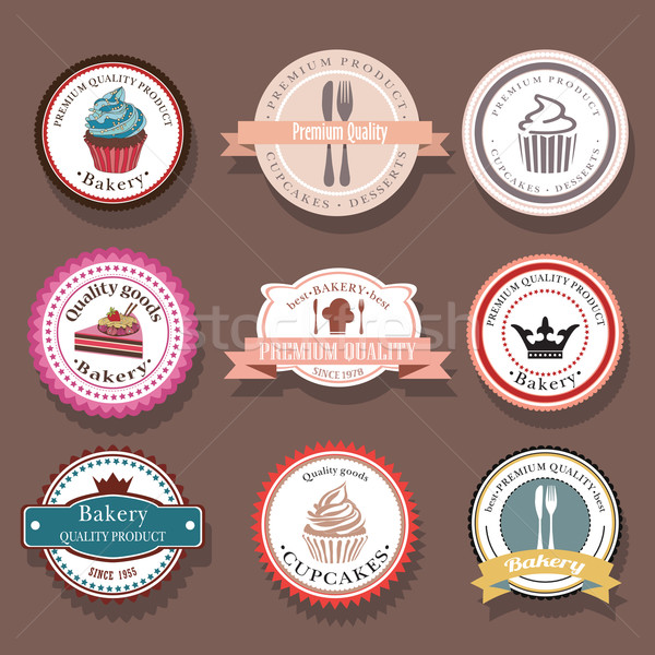 Set of bakery vector logo labels and badges Stock photo © LittleCuckoo