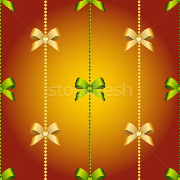 Capodanno Natale wallpaper arco nastro senza soluzione di continuità Foto d'archivio © LittleCuckoo