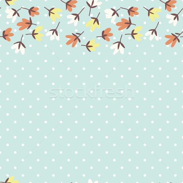 Foto d'archivio: Modello · di · fiore · primavera · vettore · doodle · floreale · pattern