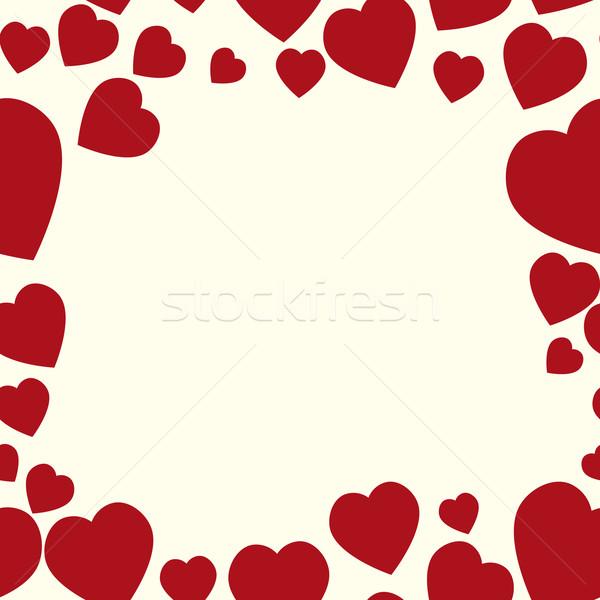 Valentine pattern. Seamless texture with hearts.  Stock photo © LittleCuckoo