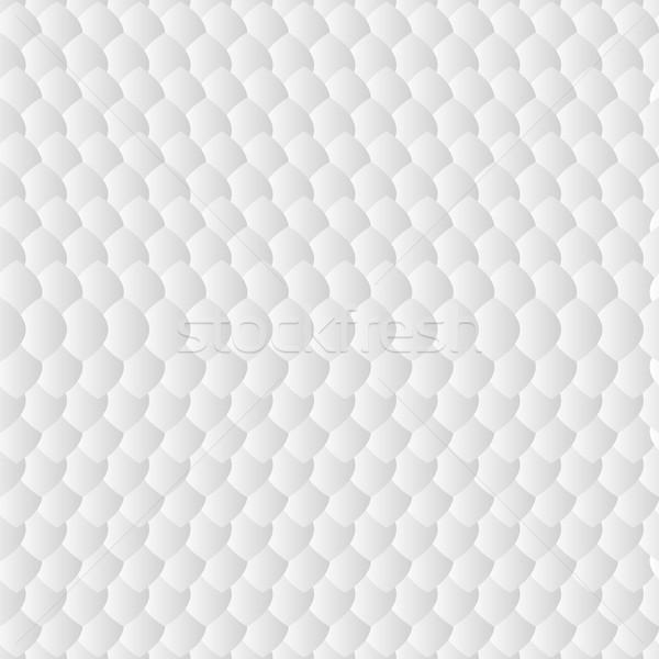 Witte geometrisch patroon simulatie schalen licht achtergrond Stockfoto © LittleCuckoo