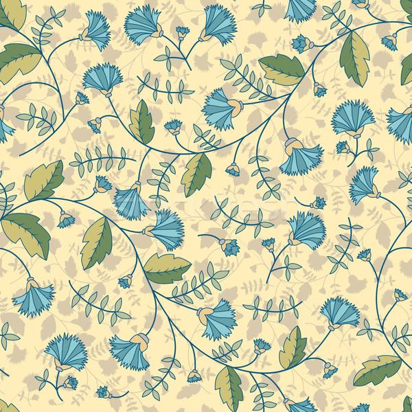 Seamless pattern with cornflowers flowers Stock photo © LittleCuckoo