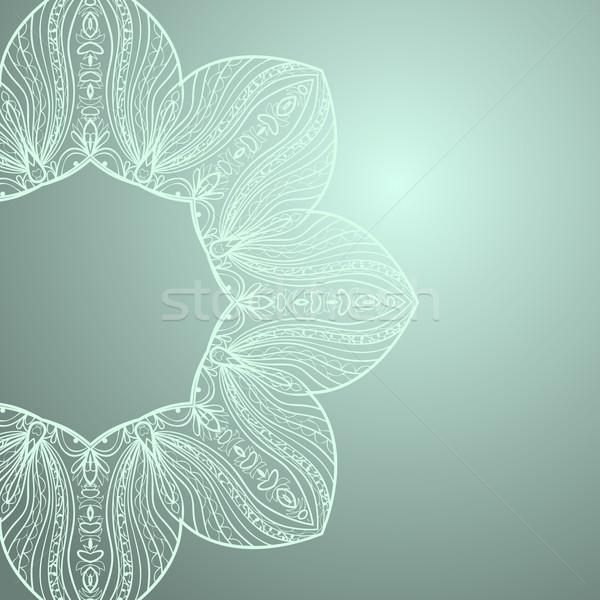 Csipke dísz kör absztrakt terv keret Stock fotó © LittleCuckoo