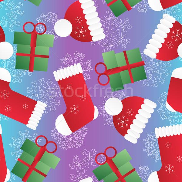 Ano novo natal modelo padrão Foto stock © LittleCuckoo