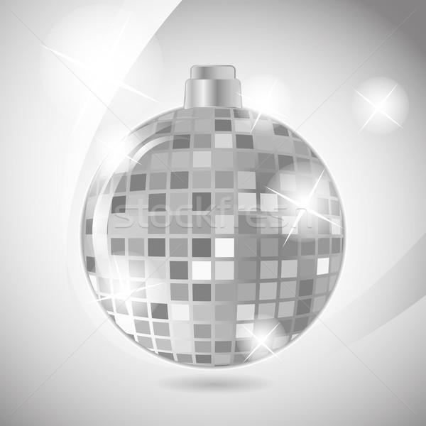 Disco Ball серебро цвета вечеринка Dance дизайна Сток-фото © LittleCuckoo