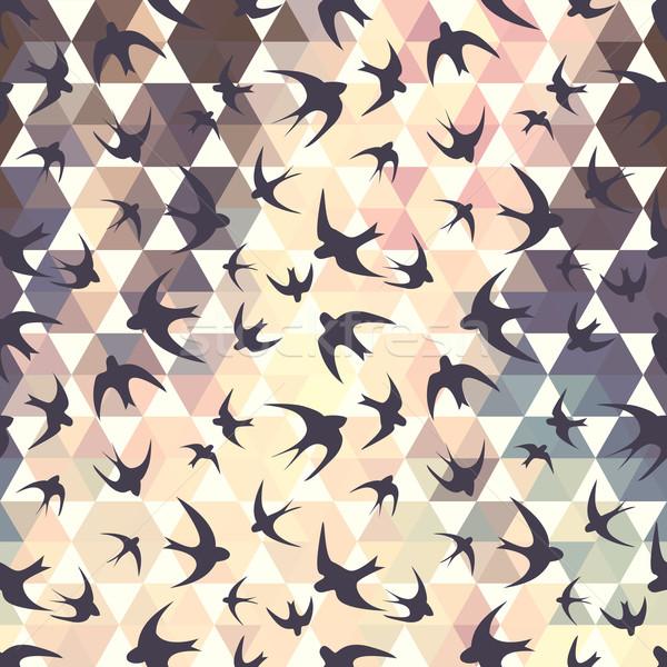 swallow and hexagons Stock photo © LittleCuckoo