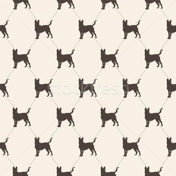 Minta kutyák végtelenített textúra konzerv használt Stock fotó © LittleCuckoo