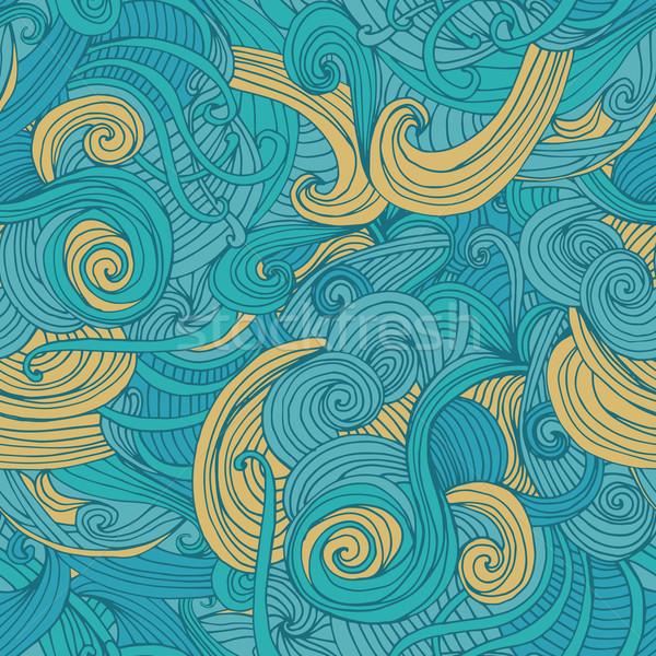 Foto d'archivio: Abstract · senza · soluzione · di · continuità · modello · onda · pattern · superficie · texture