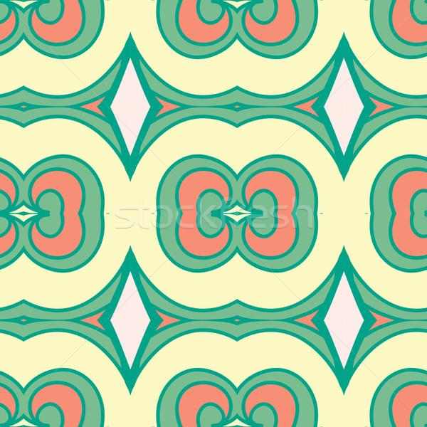 Abstrato sem costura ornamento efeito padrão caleidoscópio Foto stock © LittleCuckoo