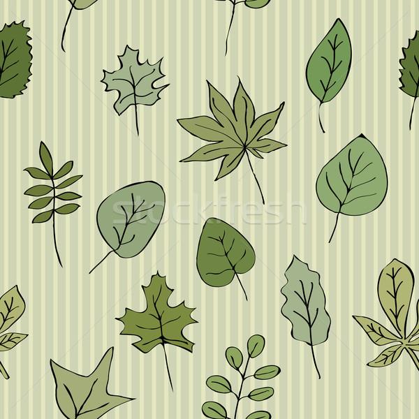 緑の葉 縞模様の シームレス テクスチャ パターン 背景 ストックフォト © LittleCuckoo