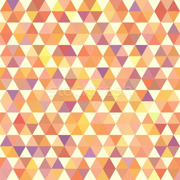 レトロな オレンジ パターン 幾何学的な 六角形 ストックフォト © LittleCuckoo