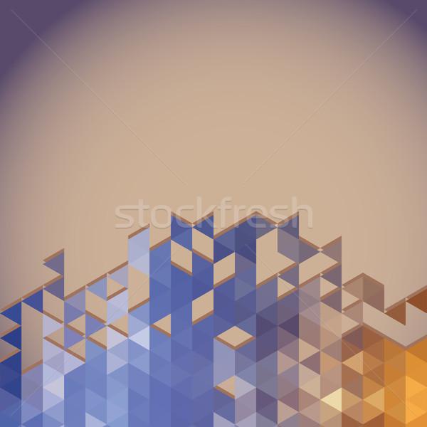 Absztrakt szalag geometrikus minta háttér képeslap mértani Stock fotó © LittleCuckoo