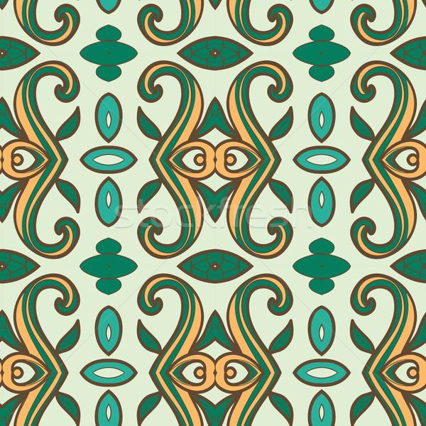 ストックフォト: 抽象的な · シームレス · 飾り · パターン · 万華鏡 · 効果