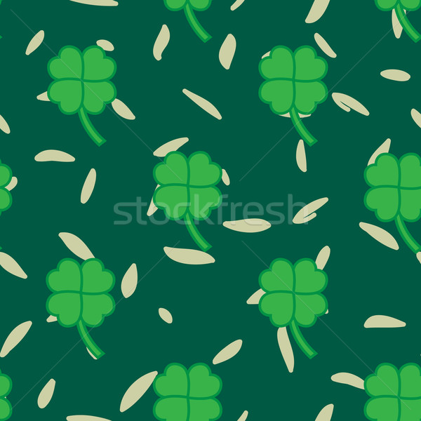 St Patric day pattern with green clover leafs Stock photo © LittleCuckoo