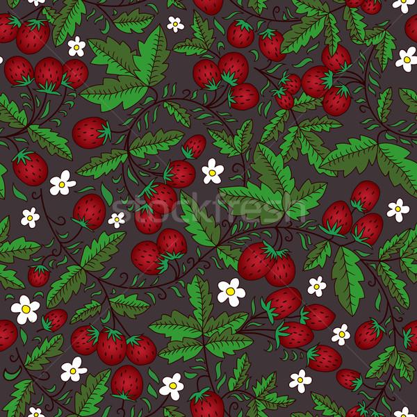 Bloem donkere naadloos textuur bloemen Stockfoto © LittleCuckoo