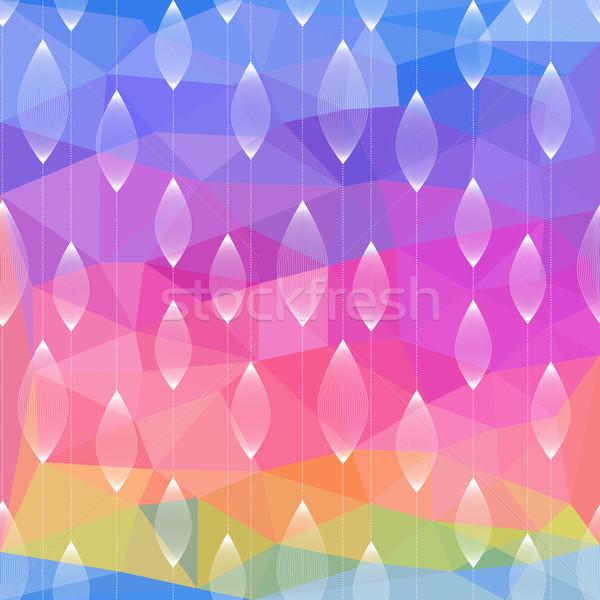 Abstrakten Dreieck geometrischen mehrfarbig eps10 Textur Stock foto © LittleCuckoo