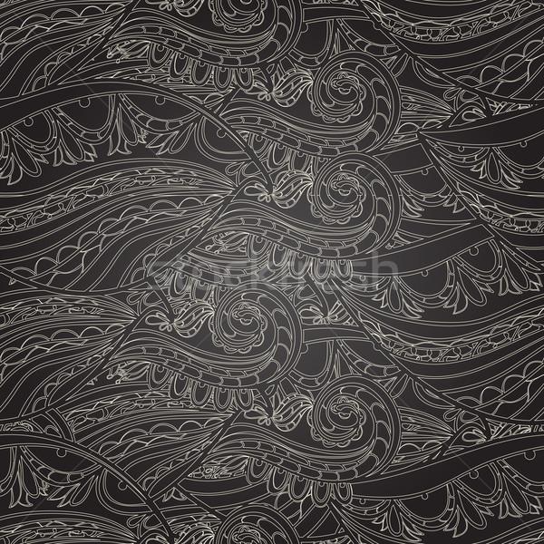 Naadloos donkere golf patroon golven gebruikt Stockfoto © LittleCuckoo
