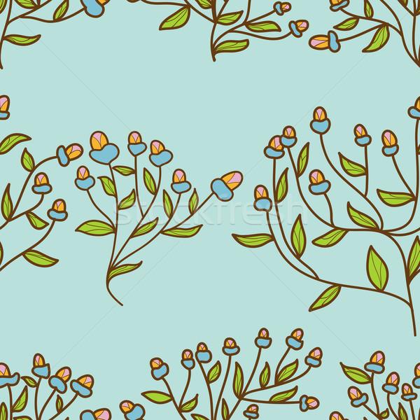Abstrato flor broto padrão sem costura textura Foto stock © LittleCuckoo