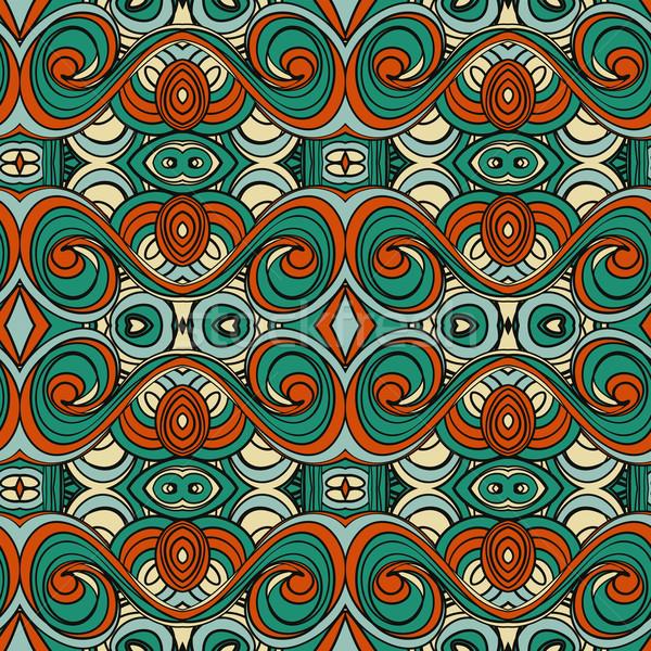 Abstract naadloos ornament patroon caleidoscoop effect Stockfoto © LittleCuckoo