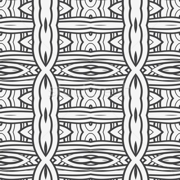 Resumen sin costura ornamento patrón caleidoscopio efecto Foto stock © LittleCuckoo