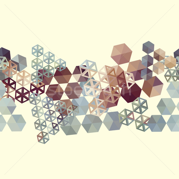 Abstract background border with hexagons Stock photo © LittleCuckoo