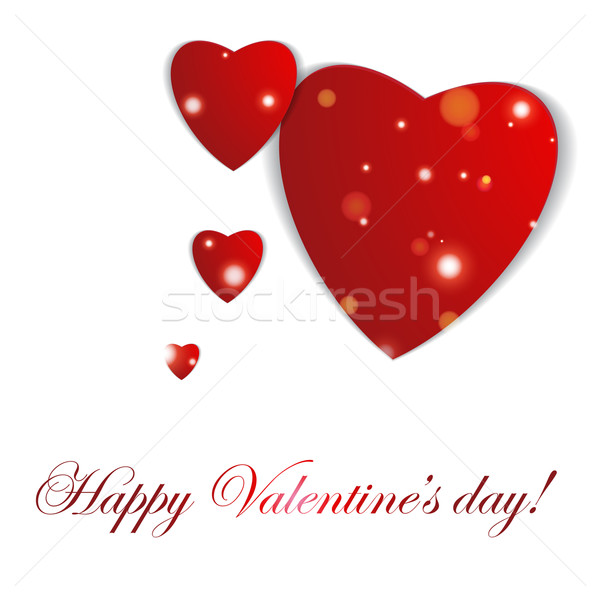 аннотация бумаги сердцах любви Валентин Сток-фото © LittleCuckoo