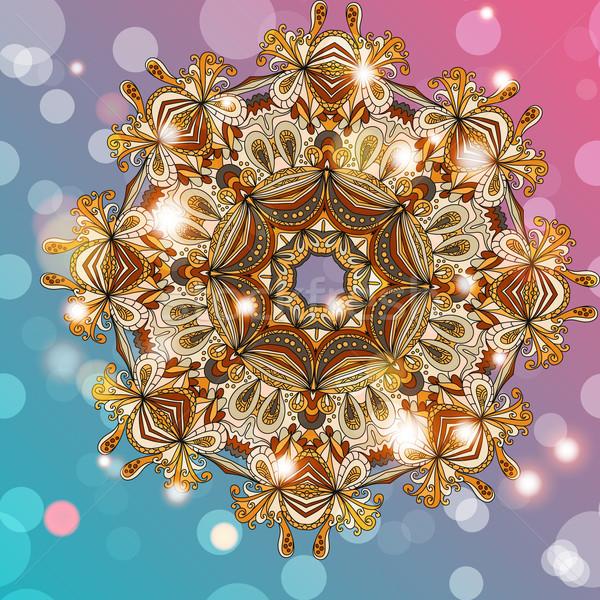 サークル 曼陀羅 レース 万華鏡 飾り ベクトル ストックフォト © LittleCuckoo
