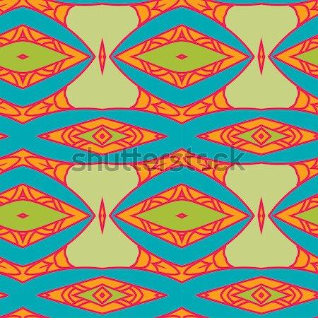 Abstract ornament pattern. kaleidoscope effect. Stock photo © LittleCuckoo