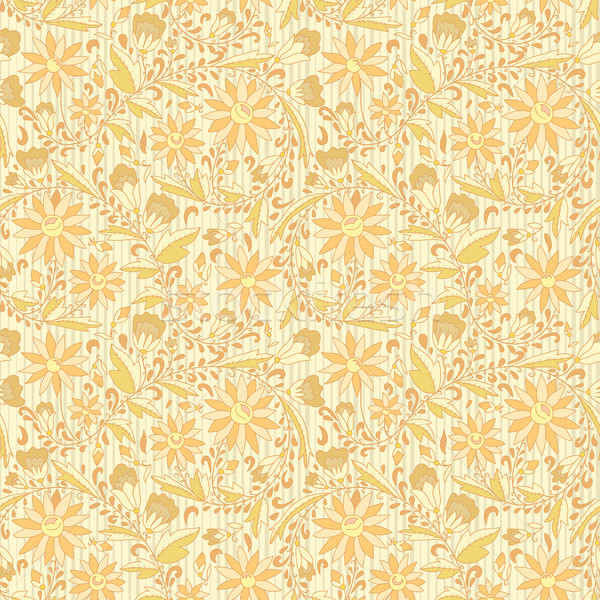 Seamless ornament floral beige neutral background Stock photo © LittleCuckoo