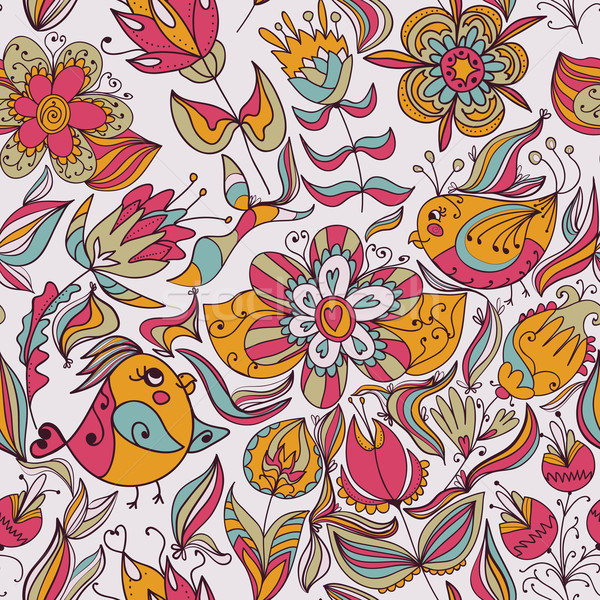 Model kuşlar çiçek kuş Stok fotoğraf © LittleCuckoo