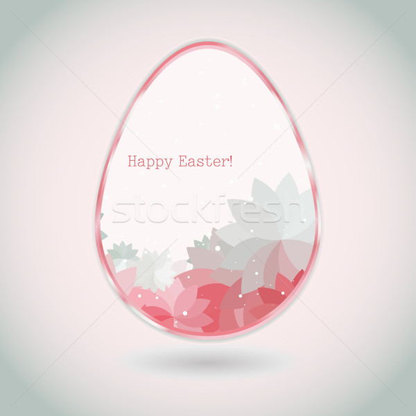 Easter egg pink pale greeting card flower petal Stock photo © LittleCuckoo