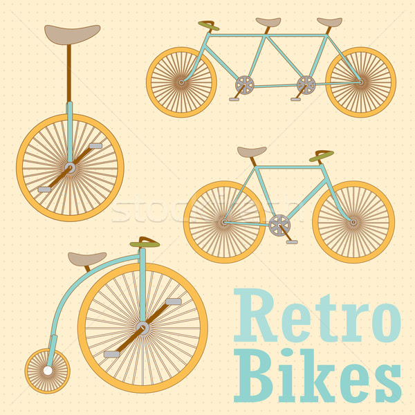 Vintage Retro Bicycle vector illustration © LittleCuckoo