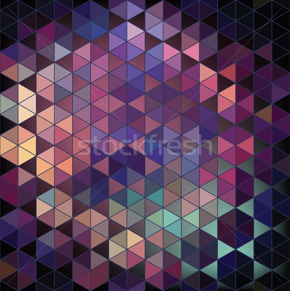 Meetkundig zeshoek abstract vector ontwerp digitale Stockfoto © LittleCuckoo