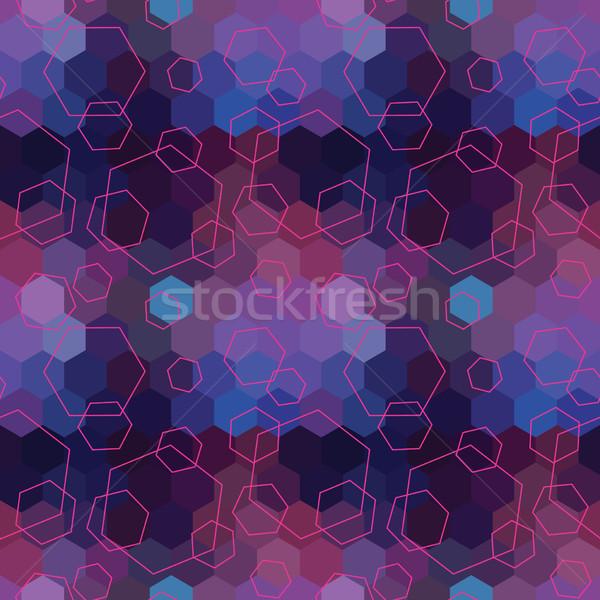 Mértani végtelenített hatszög absztrakt vektor végtelen minta Stock fotó © LittleCuckoo