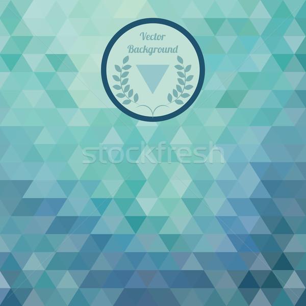 Abstract blue background triangular Stock photo © LittleCuckoo
