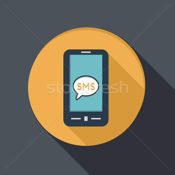 smartphone with cloud of sms dialogue Stock photo © LittleCuckoo