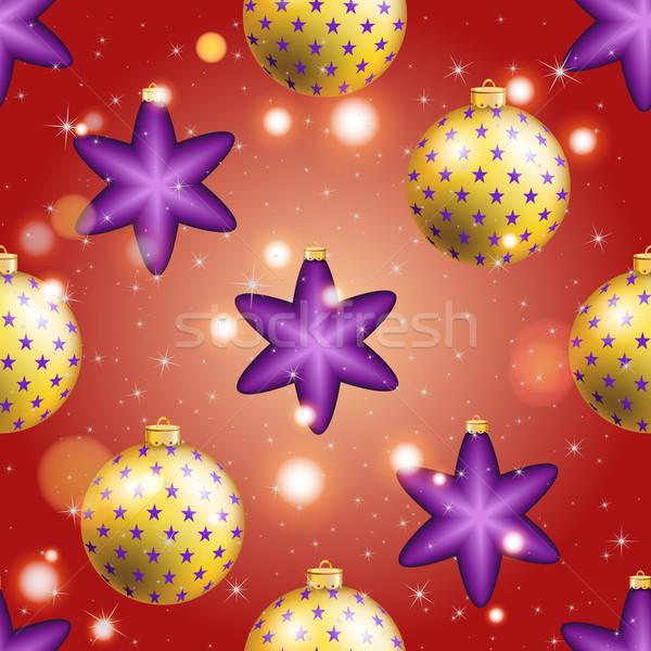 パターン ボール クリスマス 壁紙 弓 ストックフォト © LittleCuckoo