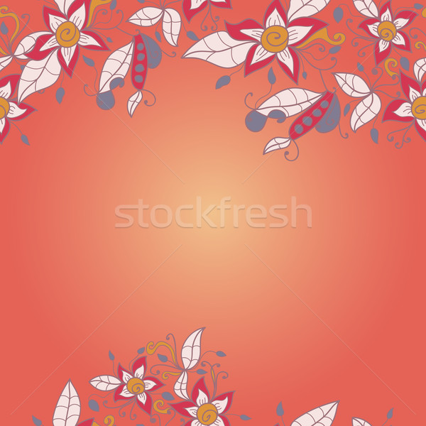 Stock photo: abstract flower pattern.  Vector seamless texture